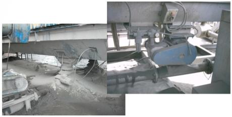 Failed rotary valves on Coating Plants